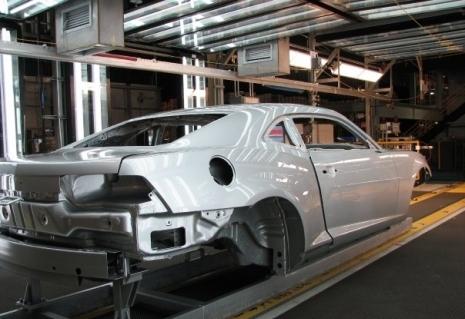 Den nye Camaro på vej ned af samlebåndet