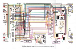1967  81 Camaro Laminated Color Wiring Diagram 11