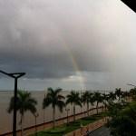 Rainbow over Tonle Sap and Mekong rivers.