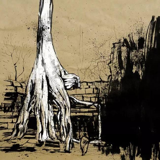 Blasco – Pen, Ink and Charcoal Drawings Of Angkor Wat 02