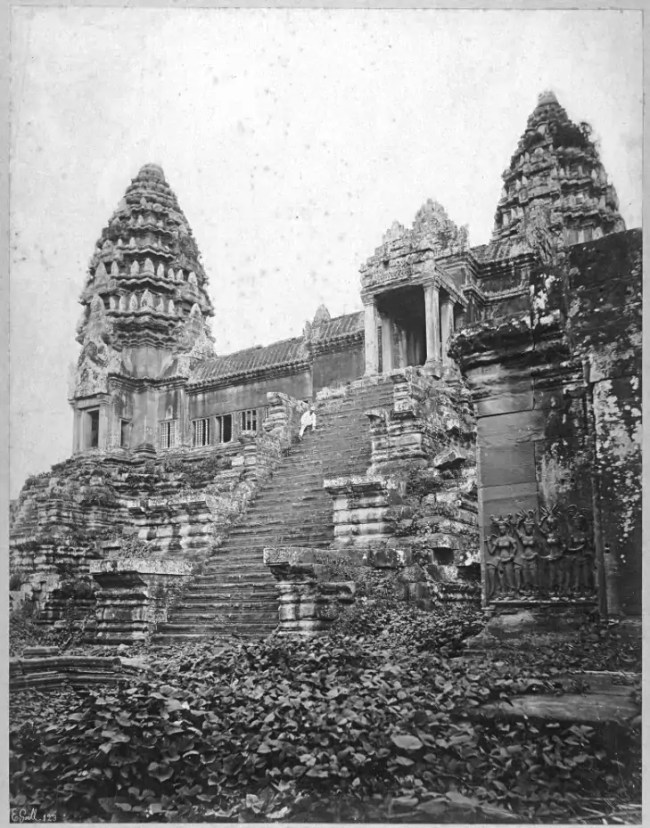 Angkor Wat Circa 1866 ~ Who's The Guy In The Boilersuit?