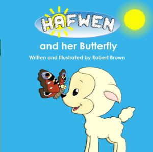 Hafwen and her butterfly