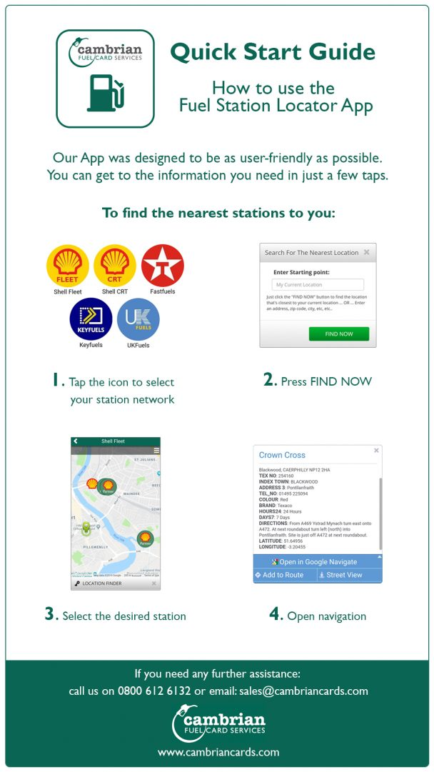 Quick Start Guide How to use the Fuel Station Locator App