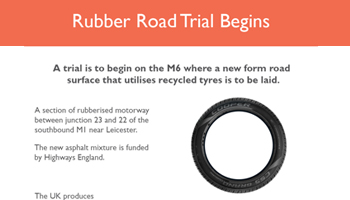 Rubber Road Trial Begins – Infographic