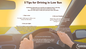 5 Tips for Driving in Low Sun – Infographic