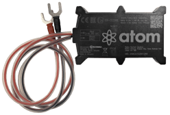 atom telematics device with leads