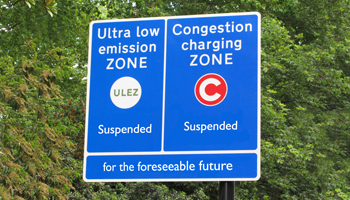 ULEZ and Congestion Charges Suspended