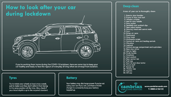 How to Look After Your Car During Lockdown – Infographic