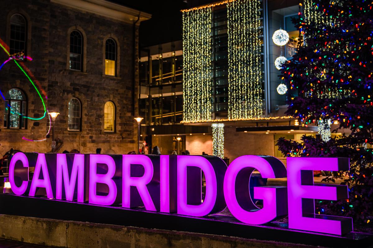 winter illumination city of cambridge