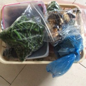Rescued defrosted fruit and vegetables