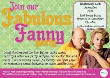 Fabulous Fanny Christmas party flyer