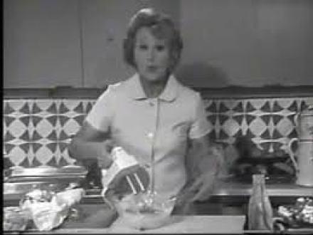 Fanny Cradock cooking