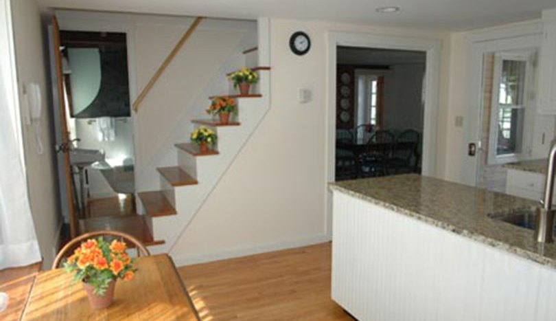 Back stairway from kitchen