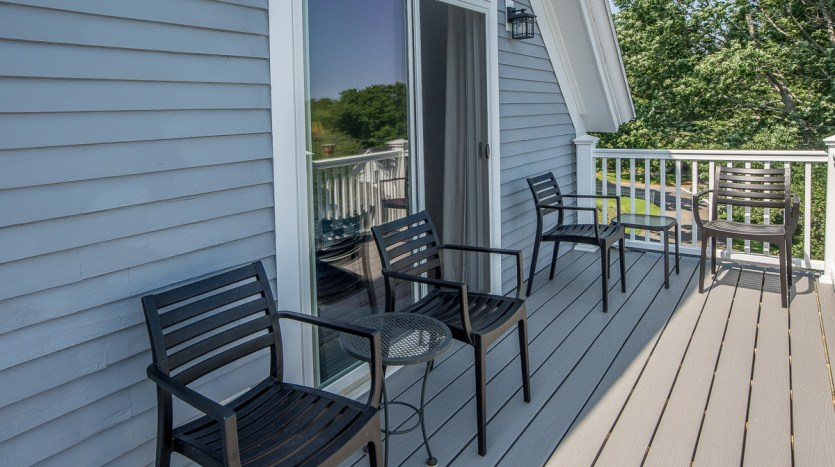 Seating on new second story deck