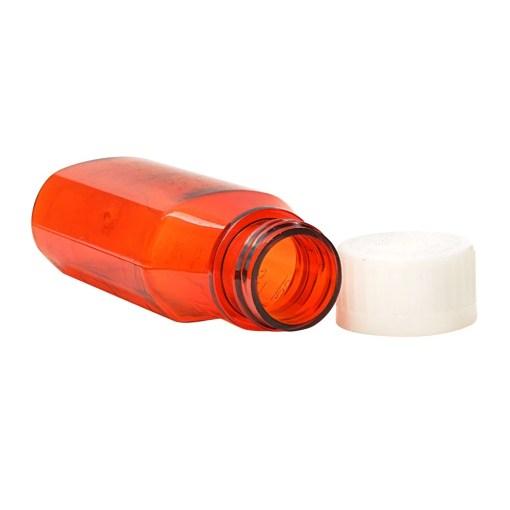 4 oz Amber Oval Bottles
