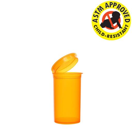 Amber Pop Top Bottles 19 Dram