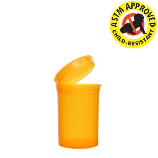 Amber Pop Top Bottles 30 Dram