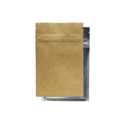 Kraft/Clear Mylar Smell Proof Bags 1/4 Ounce