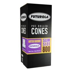 98 mm Brown Futurola Dutch Pre Roll Cones Slim Size