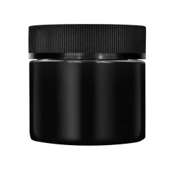 CR Black Flush Cap Jars Glossy
