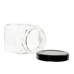 2oz Square Glass Jar