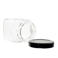 2oz Square Glass Jar