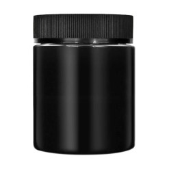 4oz CR Black Flush Cap Jars Glossy