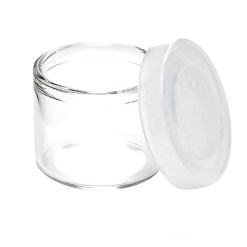 are non-sticky containers that are used to store wax, cream, oil and other small items used in canna packaging.