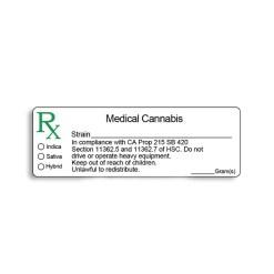 California Compliant - Medical Marijuana Labels