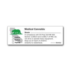 California State Design -Medical Marijuana Labels