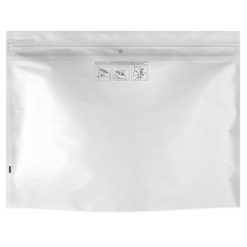 Child Resistant Dymapak White Bags - 12″ x 9″