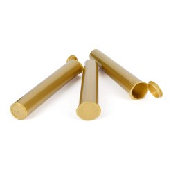 120mm Opaque Gold Pre-Roll Tubes