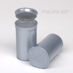 19 Dram Opaque Silver PHILIPS RX® Pop Top Containers