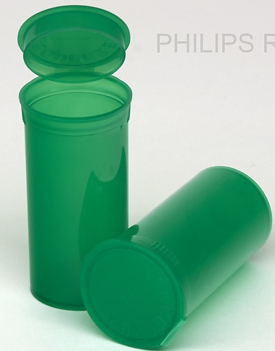 13 Dram Translucent Green PHILIPS RX® Pop Top Containers