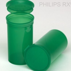 19 Dram Translucent Green PHILIPS RX® Pop Top Containers