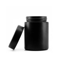 4OZ MATTE BLACK GLASS JAR + CR CAP