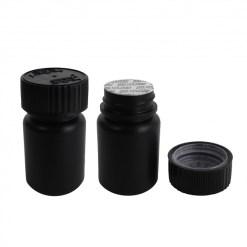 Black HDPE 30cc Pill Bottle with Child Resistant Cap