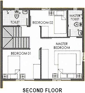 camella bohol dana second floor plan