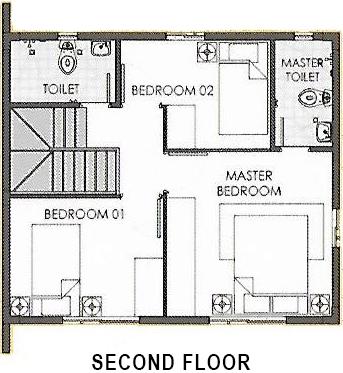 camella capiz dana second floor plan
