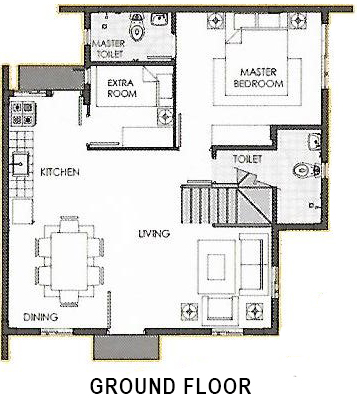 camella quezon ella ground floor plan