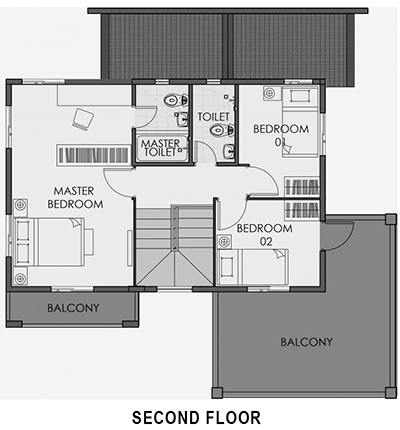 camella palawan greta second floor plan
