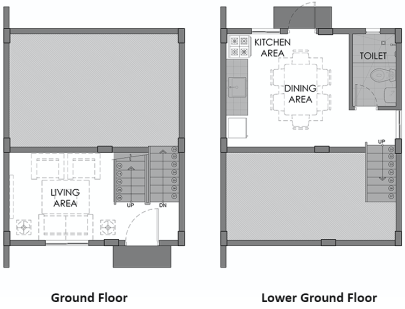 camella azienda cebu hanna ground floor plan