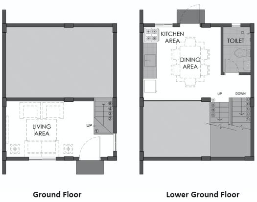 camella homes hannela uphill ground floor plan