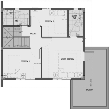 camella bacolod south dani second floor plan