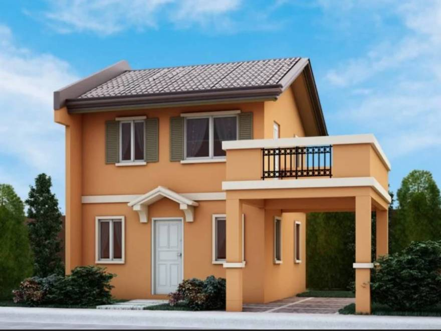 camella homes cara with balcony and carport