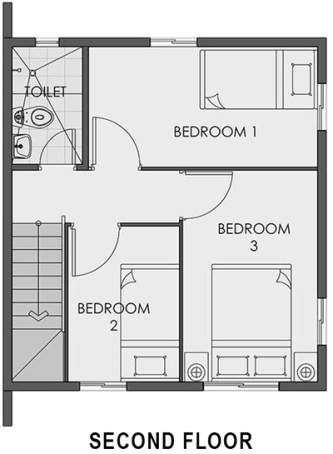 camella carson cara second floor plan