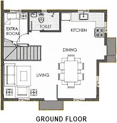 camella carson dana ground floor plan