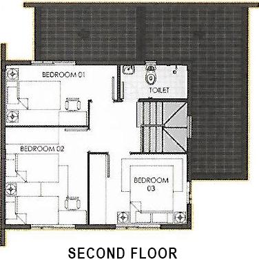 camella cerritos ella second floor plan