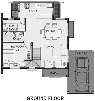 camella cerritos freya ground floor plan