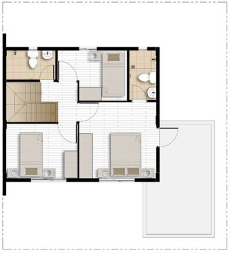 camella homes dana second floor plan